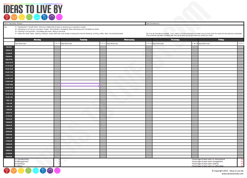 Printables Time Tracking Worksheet time tracking spreadsheet ideas to live by pages