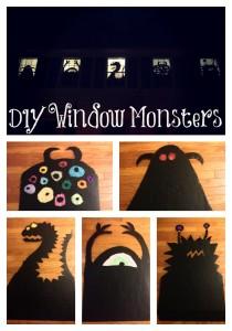 DIY window monsters