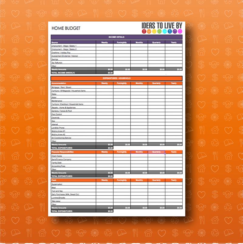 Home Budget Spreadsheet