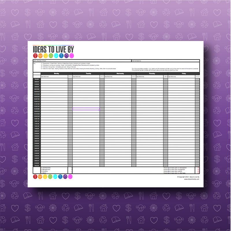 time tracking spreadsheet ideas to live by
