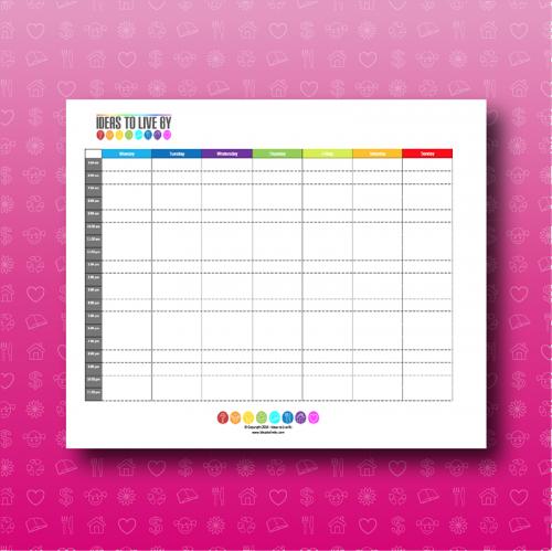 Weekly Schedule Tracker